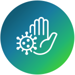 hand and virus icon